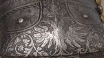 ARMOR OF EMPOROR FERDINAND FEET DOUBLEHEADED EAGLE DETAIL