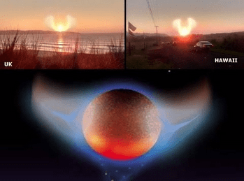 Nibiru the Destroyer, the Winged Nemesis, The Purifier, Wormwood, Planet-X, AKA the system, seen in both the United Kingdom and Hawaii, 2020
