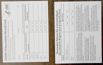 Card front and back