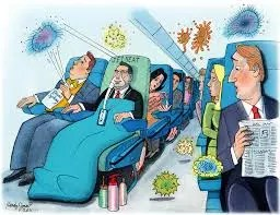 animated cartoon of flu germs