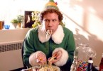 HOLIDAY ELF EATING PASTA
