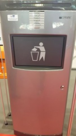 Automatic garbage can Alimentaria