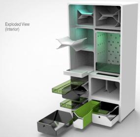 Internal view fridge