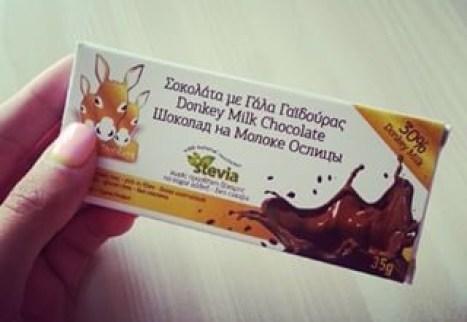 Chocolate de leite de burra Grécia