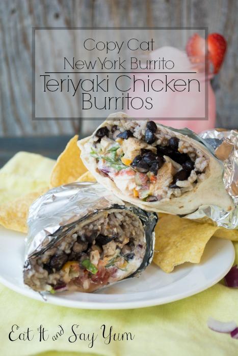 Teriyaki Chicken Burritos form Eat It & Say Yum
