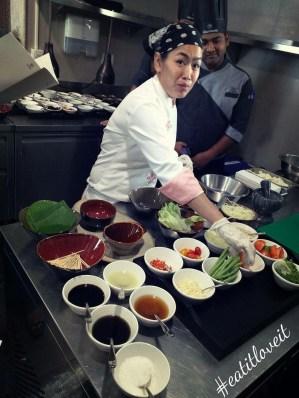 Chef Ninja in her element