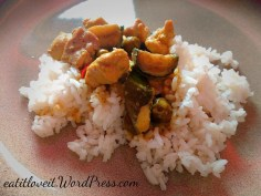 Thai Green Curry on a Bed of Jasmine Sticky rice