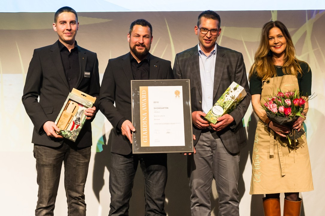 Giardina 2018 | GiardinaAWARD | Award Verleihung | GiardinaSTYLE | Showgarten | AfterWork | Spross Ga-La-Bau AG | GiardinaAWARD Gewinner, Kategorie Bronze