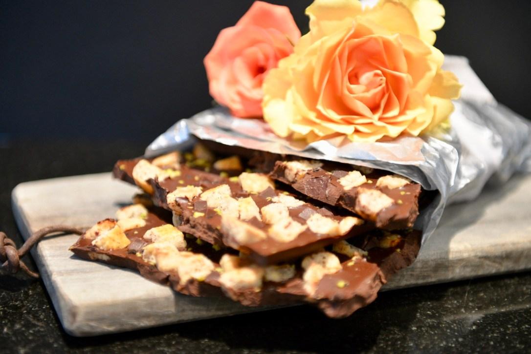 Hausgemachte Bruch-Schokolade