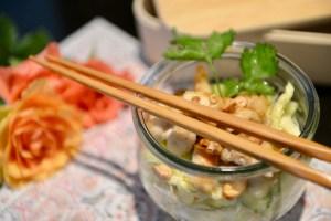 Thai-Nudelsalat mit Poulet