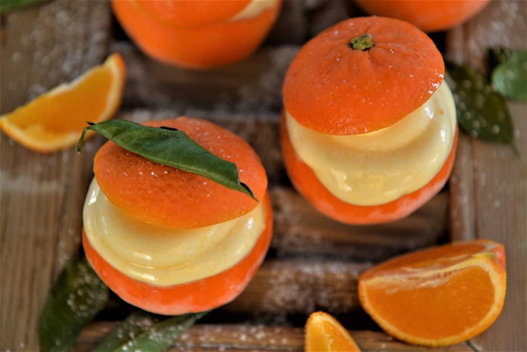 Mandarinensorbet Sorbet aus Mandarinen