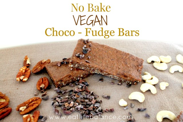 Vegan Choc Fudge Bars