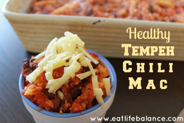 Healthy Tempeh Chili Mac