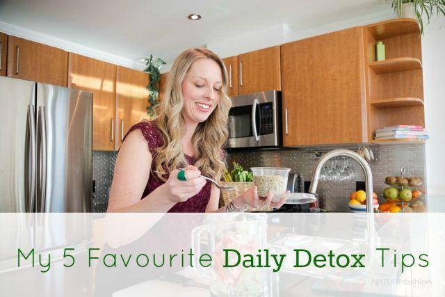 5 daily detox tips