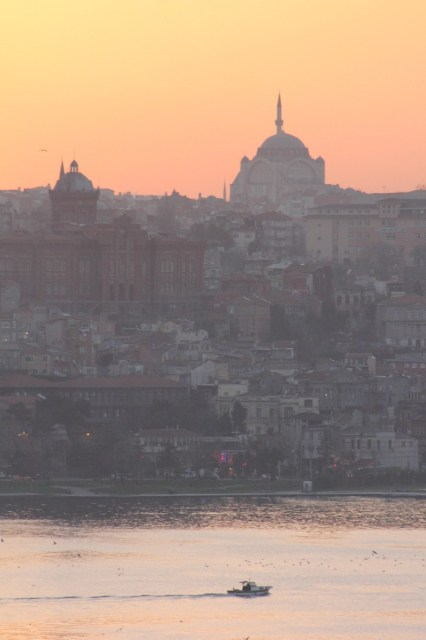 All calm after sunset on the Bosphorus