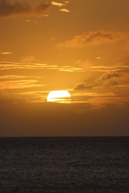 Caribbean sunset from St James, Morgan Bay (St Lucia)