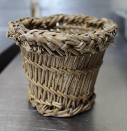 Traditional wicker cheese mould