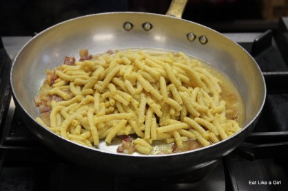 Passatelli with guanciale