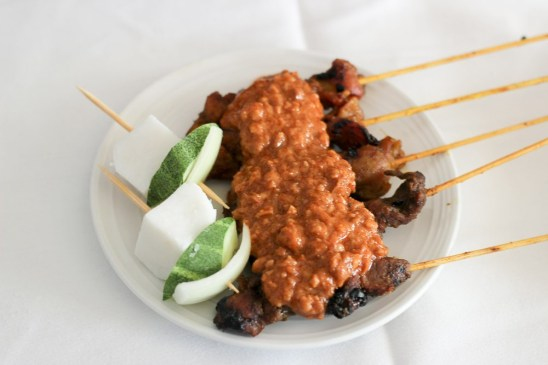 The satay trolley on Malaysia Airlines