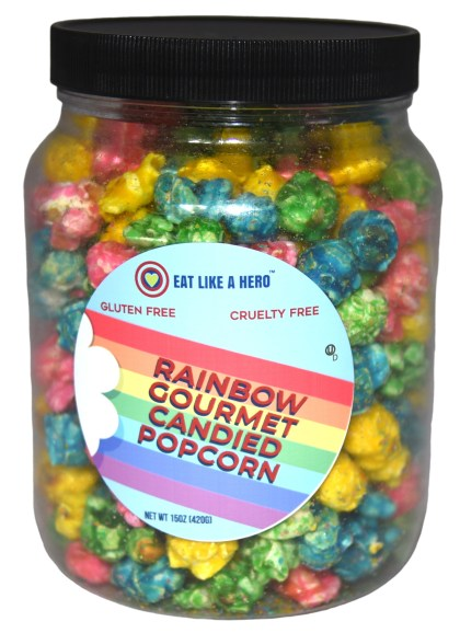 rainbow popcorn hero lgbtq pride