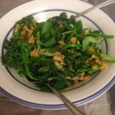 Broccoli rabe mandarin salsa salad
