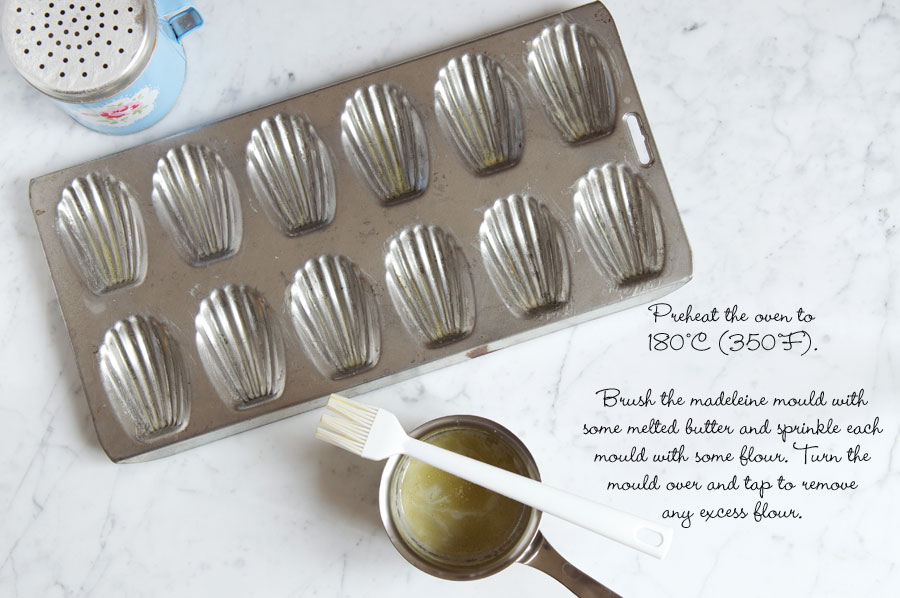 step by step photos for making madeleines