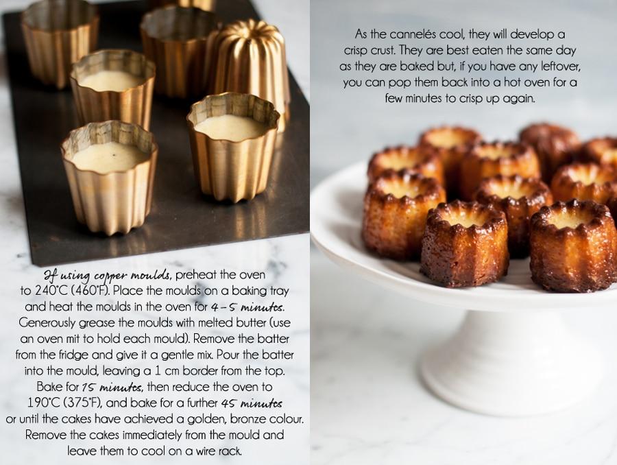 canneles recipe, using copper cannelé moulds