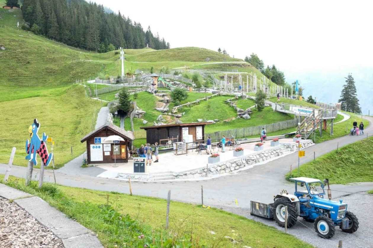 view of the playground at Brunni engelberg