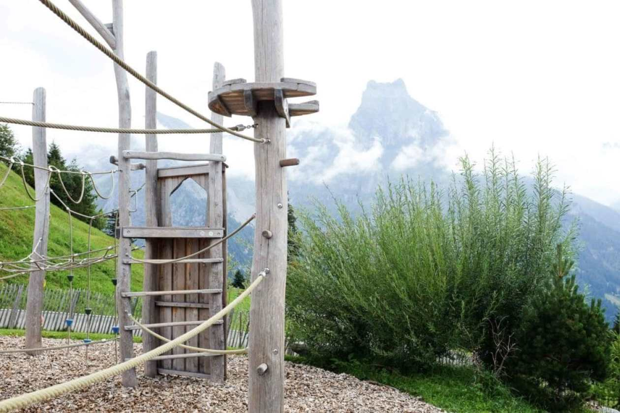 climbing playground with mountain views at brunni engelberg