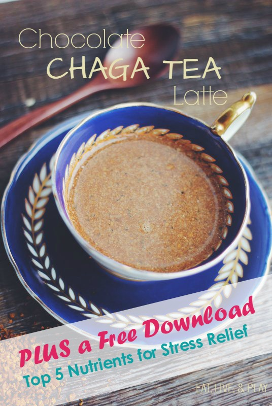 This Chaga Tea Latte is perfect for stress relief