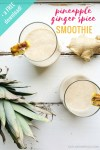This creamy and delicious fat burning smoothie contains ginger which is great for digestion and pineapple which is one of the top anti-inflammatory foods. The combination of banana and ginger may help to increase fat burning in the body. Click through for the free checklist of the top 5 foods to manage cravings!
