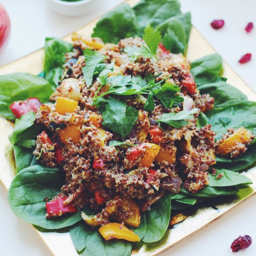 Roasted Fruit and Veggie Quinoa Salad Eat Live and Play