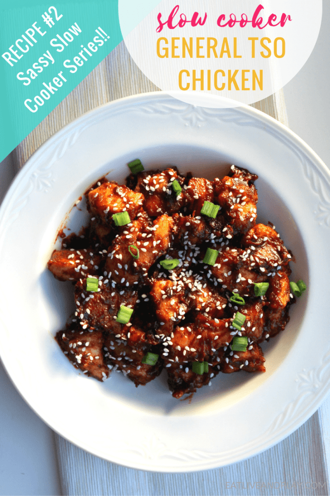 Learn how to make the best and easy Slow Cooker General Tso Chicken recipe. This all-time favorite has been made healthier with a few substitutions.