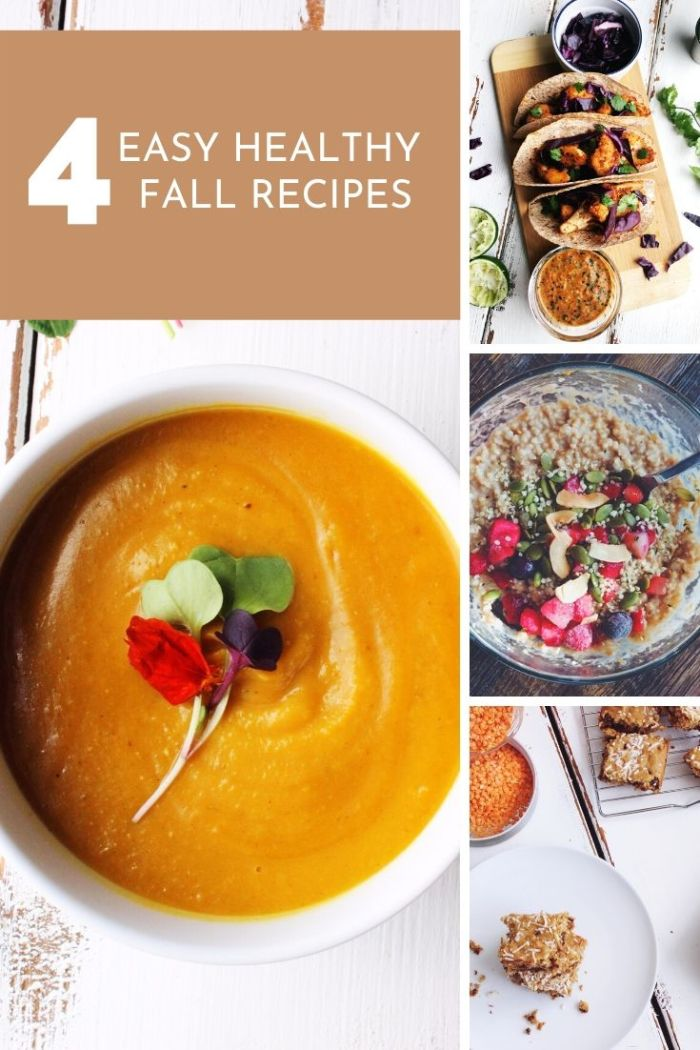These quick and easy healthy Fall recipes make planning your Fall meals as easy and tasty as it can be.