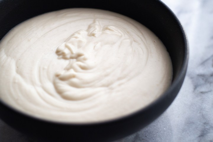 Dairy-Free Béchamel in black bowl
