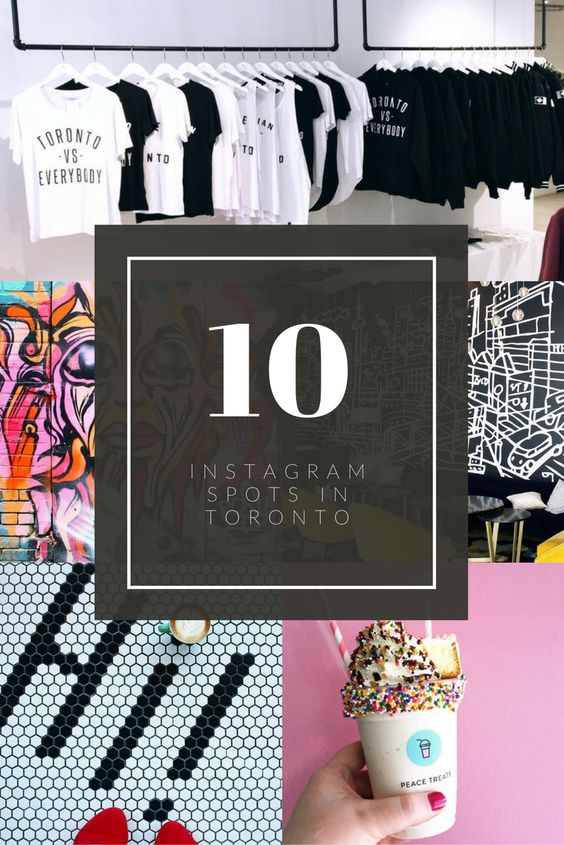 How to Instagram Toronto! From the best coffee shop, dessert locations, interior designs, tiles, wall murals - we have it all.
