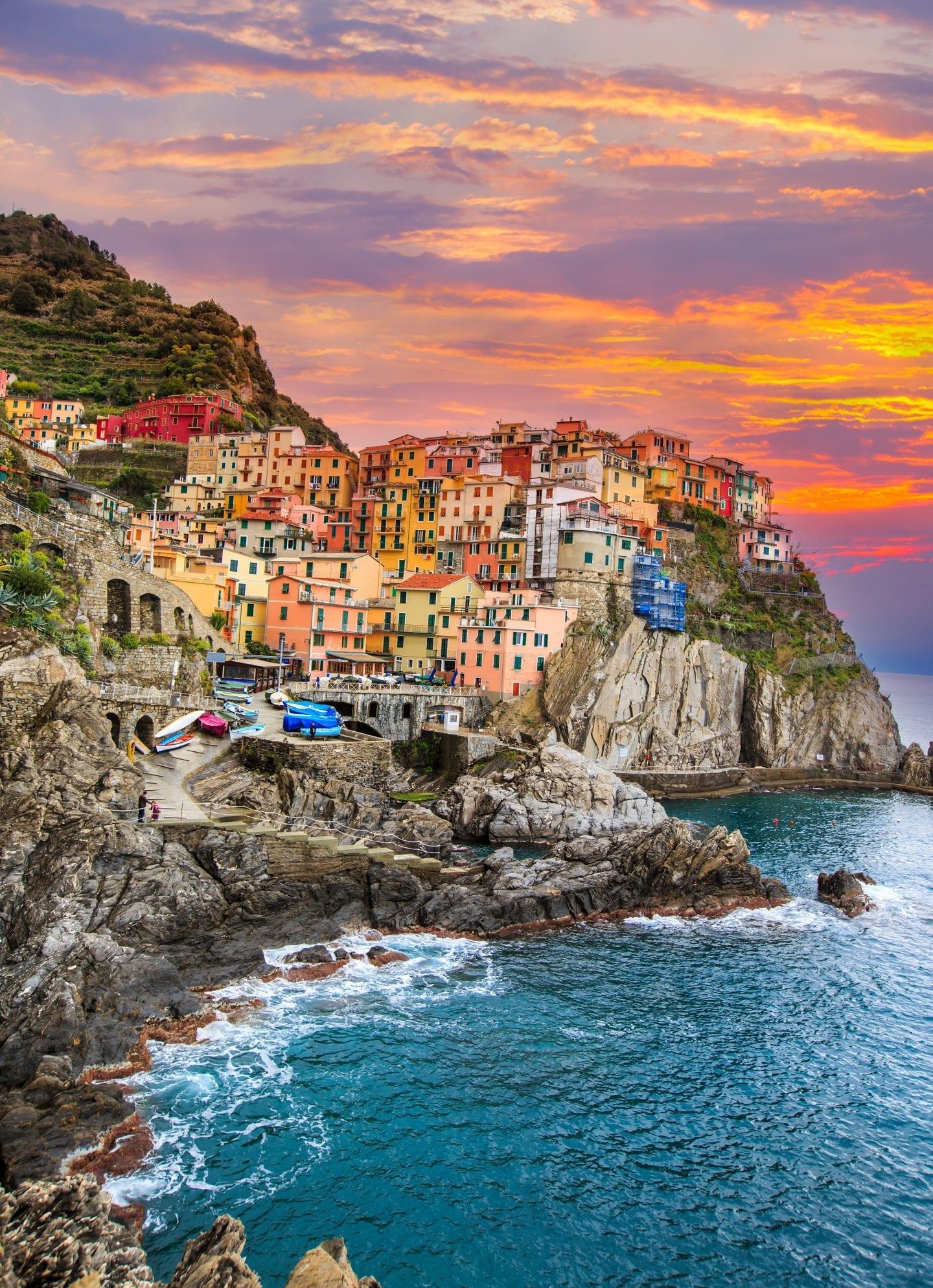 European bucket list destination, Cinque Terre Italy.