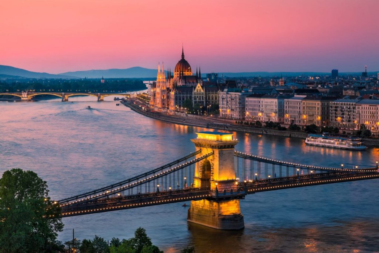 Budapest Facts - things to know before visiting this Hungarian City - sunset over the bridge
