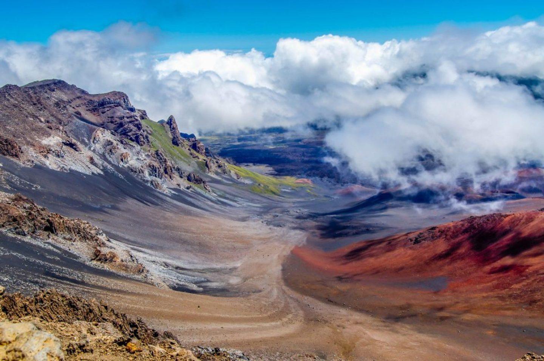 colorful views along a maui hike