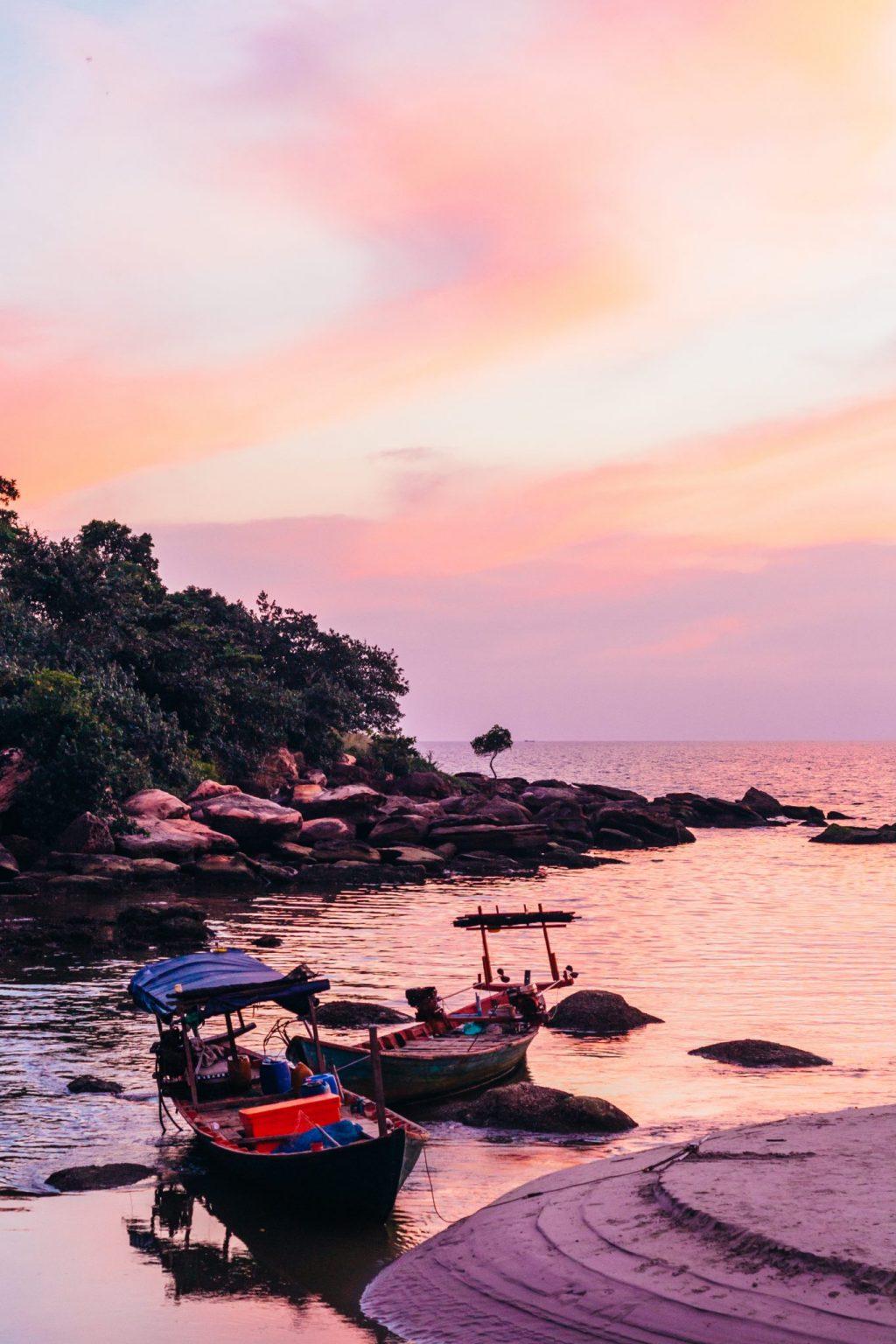Cambodia Beaches at sunset