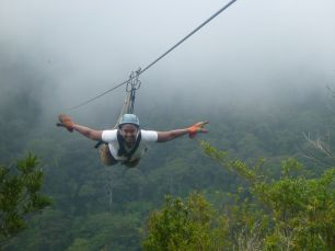 Ziplining through the Cloud Forest in Costa Rica