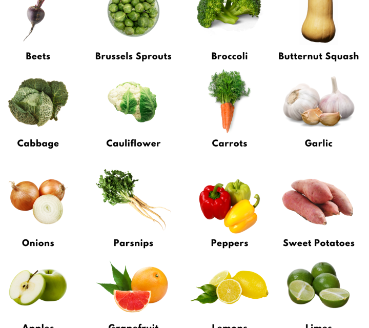vegetables and fruit that last longer than a week
