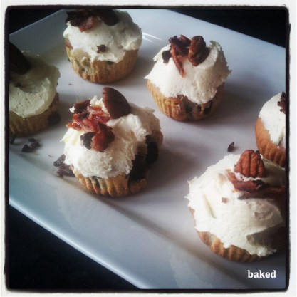 Maple Pecan Bacon Cupcakes - Photograph: Lauren Roffey