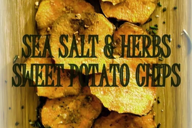 Pieczone, tymiankowo – rozmarynowe chipsy z batatów