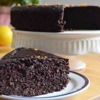 Przepis na ciasto czekoladowo-pomarańczowe bez mąki i tłuszczu