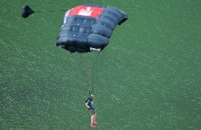 Base Jumper Landing