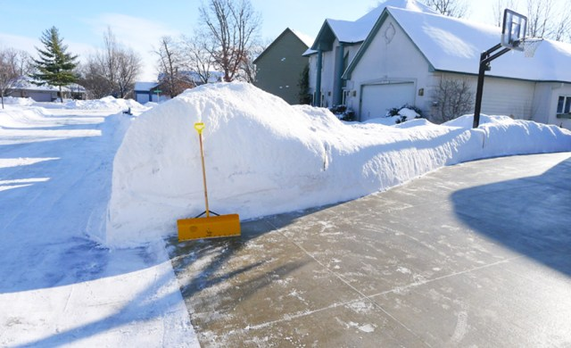 Sidewalk and driveway snow removal services