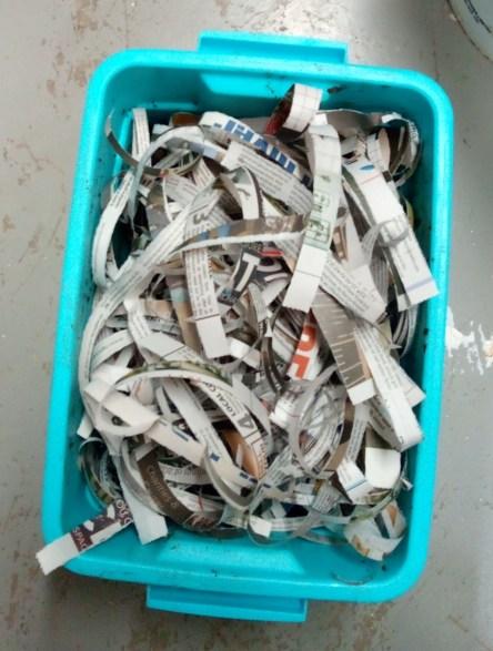 paper filter on bokashi vermiculture bin