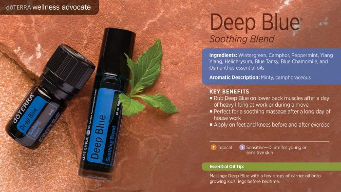 Deep Blue oil blend