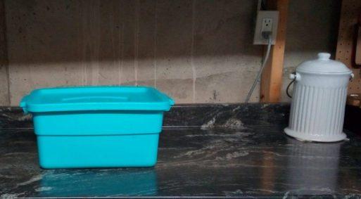 small worm bin for Bokashi
